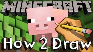 How To Draw The Pig From Minecraft | Drawing & Coloring & Learning