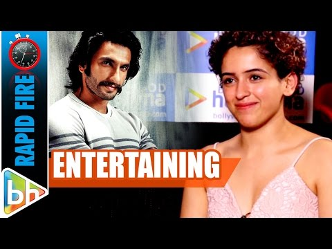 Sanya Malhotra's ENTERTAINING Rapid Fire On Ranveer Singh | Aamir Khan | Dangal thumbnail