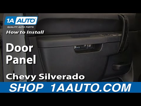 How To Install Remove Front Door Panel 2007-2013 Chevy Silverado LT GMC Sierra SLE