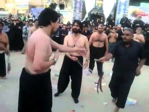 Nadeem Server&Ferhan Ali waris zanjeer Zani in Karbla.flv