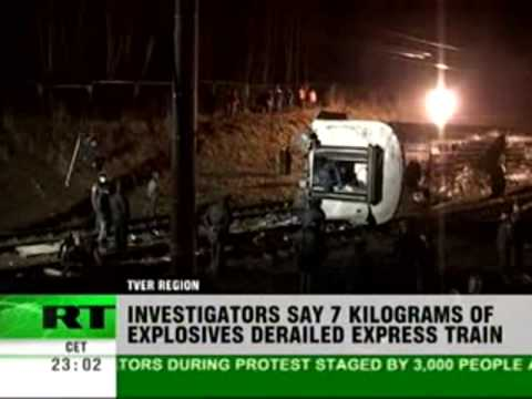 7 kilos of TNT caused  Deadly  Russian Train derailment 29th 11th 09.