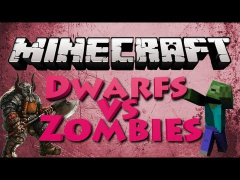 Minecraft: Dwarfs vs Zombies w/ TheCampingRusher - HUGE Army of Dwarfs (DvZ Server)