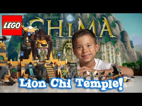 LION CHI TEMPLE - LEGO Legends of Chima Set 70010 Time-lapse Build. Unboxing & Review by EvanTubeHD