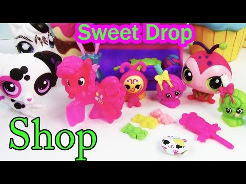 LPS Sweet Drop Shop MLP Littlest Pet Shop Playset Candy Shopkins Pinkie Pie Play