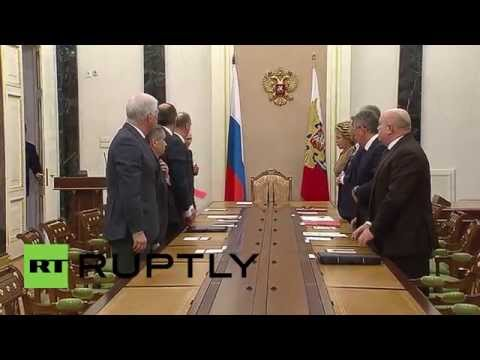 Russia: Putin leads Russian Security Council meeting