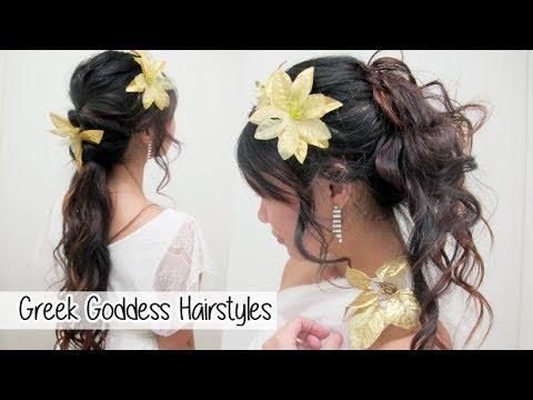 greek goddress hair tutorial l quick cute  easy