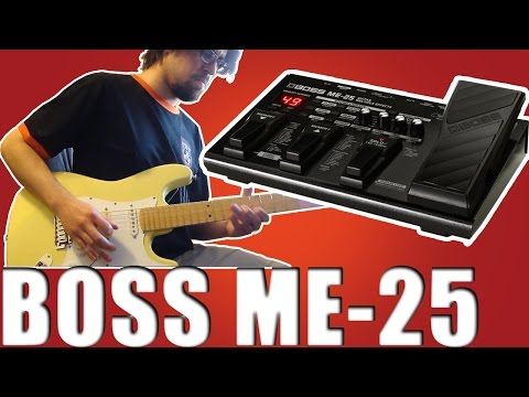 Demo BOSS ME-25 Guitar Multi Effects Distortion - Ledur Custom Strat - HD