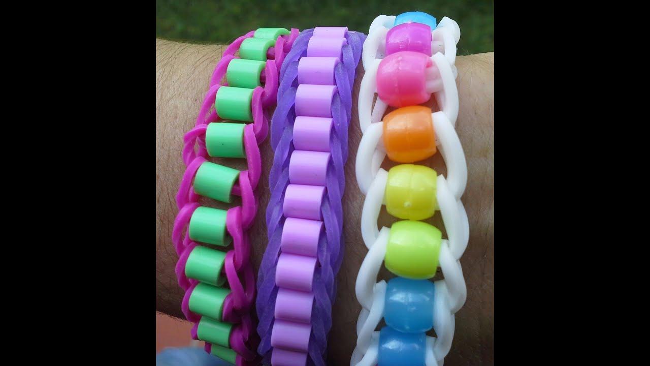 Faire un bracelet en lastique avec des perles youtube - Comment faire bracelet elastique ...