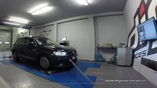 VW Tiguan 2.0 TDI 150cv Reprogrammation Moteur @ 201cv Digiservices Paris 77 Dyno