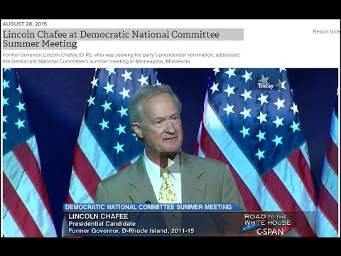 Lincoln Chafee at Democratic National Committee Summer Meeting in Mpls