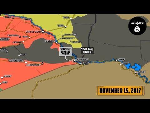 16 ноября 2017. Военная обстановка в Сирии. Авиаудары ВКС РФ по террористам возле оплота ИГИЛ.