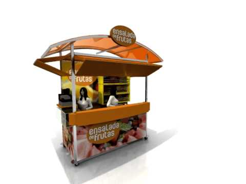 Kiosko para venta de youtube for Disenos de kioscos