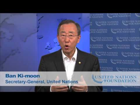 UN Secretary-General Ban Ki-moon Thanks Idol Gives Back and the UN Foundation