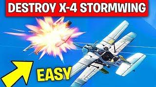 Destroy Flying X-4 Stormwings - EASY GUIDE WEEK 7 CHALLENGES FORTNITE SEASON 7