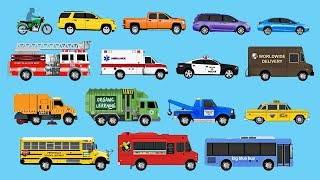 Learning Street Vehicles for Children - Learn Cars, Trucks, Fire Engines, Garbage Trucks, & More