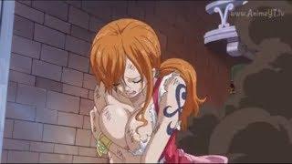 One piece capitulo 819 Luffy y nami escapan