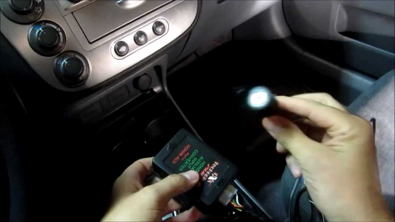 Installing PIE HON98 AUX IPod IPhone Auxiliary Input