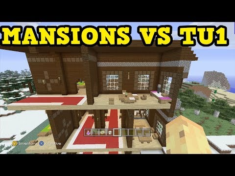 WOODLAND MANSIONS vs OLDEST UPDATE - Minecraft Xbox