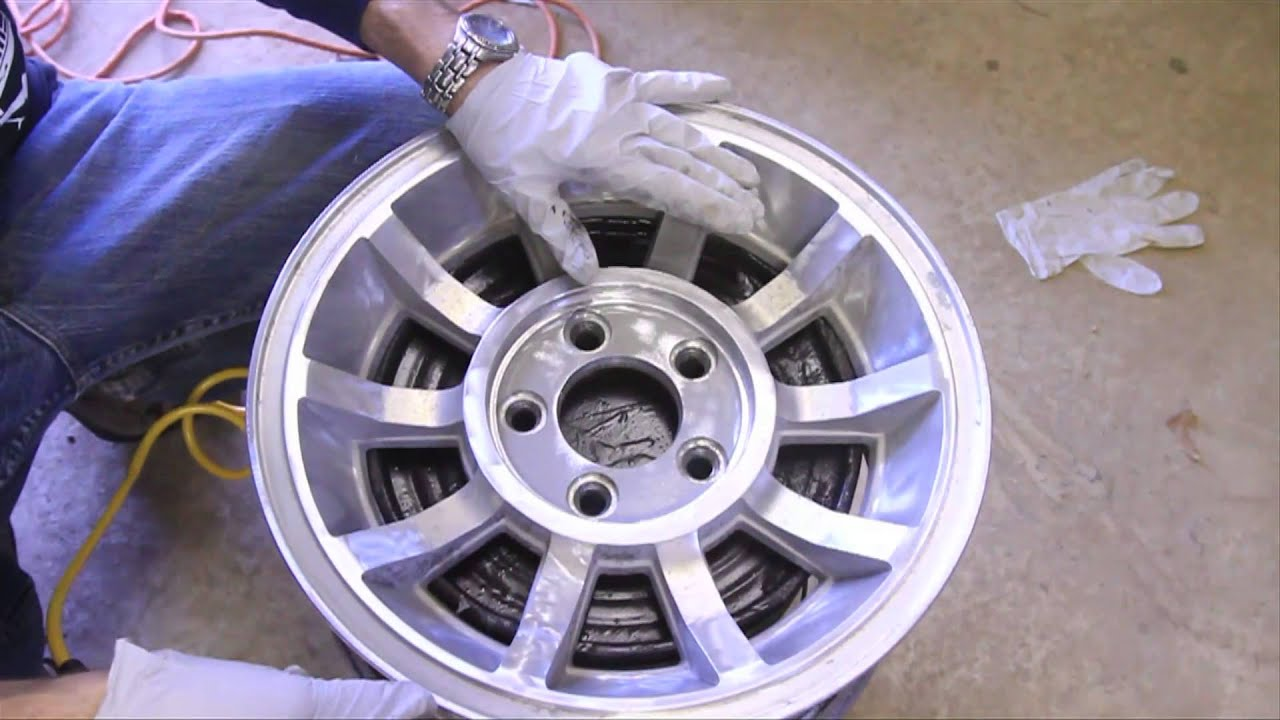 How To Remove Black Paint From Alloy Rims