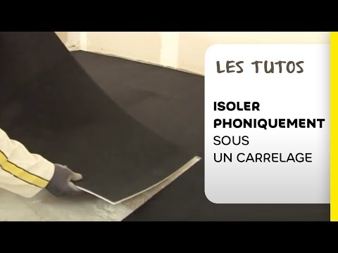isolation acoustique sous carrelage weber impact youtube. Black Bedroom Furniture Sets. Home Design Ideas