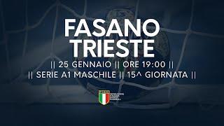 Serie A1M [14^]: Junior Fasano - Trieste 29-26