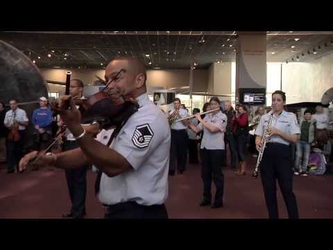 The USAF Band Holiday Flash Mob at the National Air and Space Museum 2013