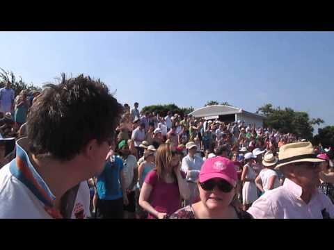 Wimbledon Men's final 2013 Andy Murray Mexican Wave on Henman Hill