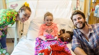 Miley Cyrus and Liam Hemsworth Visit Julia Davidson at Rady Children