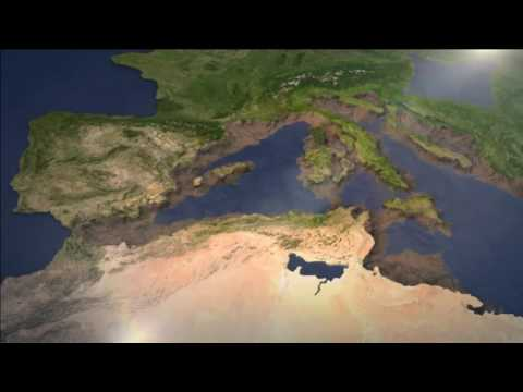 Mediterranean isolation and desiccation during the Messinian Salinity Crisis - computer animation#
