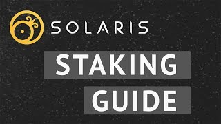 Solaris - QT Wallet Staking Guide