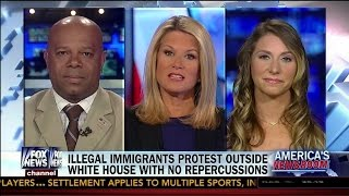 Illegal Immigrants Protest Outside White House With No Repercusssions