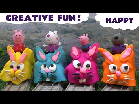 Peppa Pig Thomas And Friends Play Doh Fun Toys Cars Frozen Cookie Monster Play-doh Surprise Eggs video