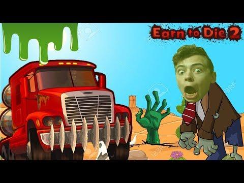 EARN TO DIE 2 ДАВИЛКА  Игра про машинки от канала GAMES FACTORY для детей