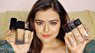 Top 6 Foundations For Indian Skin With Prices | Maybelline, Loreal, Huda Beauty & More | Review