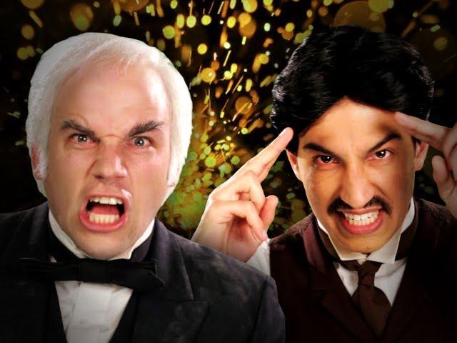 Nikola Tesla vs Thomas Edison.  Epic Rap Battles of History Season 2.