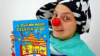Videos for kids. Le Clown and the magic colouring book.