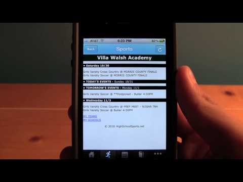 Villa Walsh Academy iPhone App