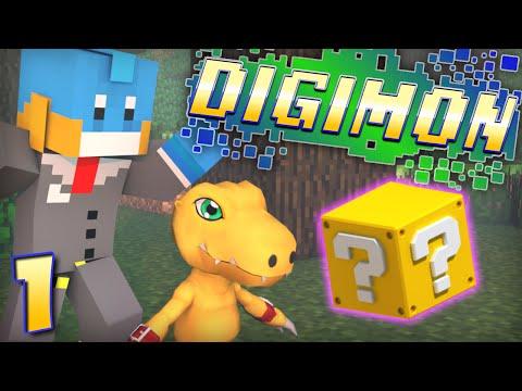 lucky Block Beginning! Minecraft - Digimon Modded Adventure! - Ep #1 video