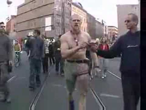 Neonazi Freak Dancing His Ass Off At Sex Parade video