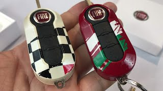 How to change the Fiat 500 remote key cover
