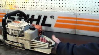 The chainsaw guy shop talk Stihl 034 Super  12 21