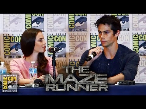 The Maze Runner Press Conference - Comic-Con 2014 - Dylan O'Brien, Kaya Scodelario