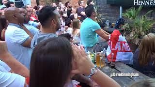 England fans celebrate Kieran Trippier goal (v Croatia)