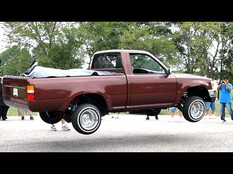 Lowrider Truck Dances and Blows Tires