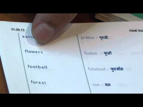 Hindi lesson   Dictionary read 3)