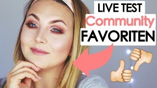 LIVE TEST! Full Face first Impressions COMMUNITY FAVORITES! 💕 deutsch