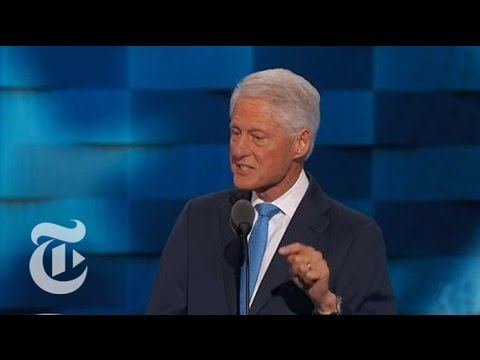 Bill Clinton Offers Personal Tales of Hillary | Democratic Convention | The New York Times
