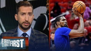 Kevin Durant talking will increase the noise around him — Nick Wright | NBA | FIRST THINGS FIRST