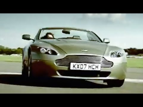 BBC: Aston Martin V8 Vantage vs Man on Jet Powered Rollerskates! Top Gear