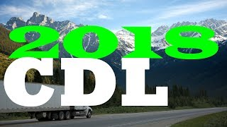2018 CDL General Knowledge Exam Test 100 Questions & Answers